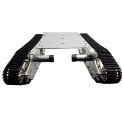 DGCH026 Rudder 4-wheel Metal Tank Tracked Chassis Large Load 4wd Obstacle ROHS