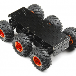 DAGU educational robot 6WD wild thumper chassis (Black body with 75:1 gearbox)CE certificate ROHS