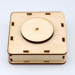3D rotating wooden box