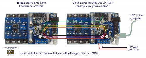 Burning the Arduino Bootloader onto an ATmega168PA